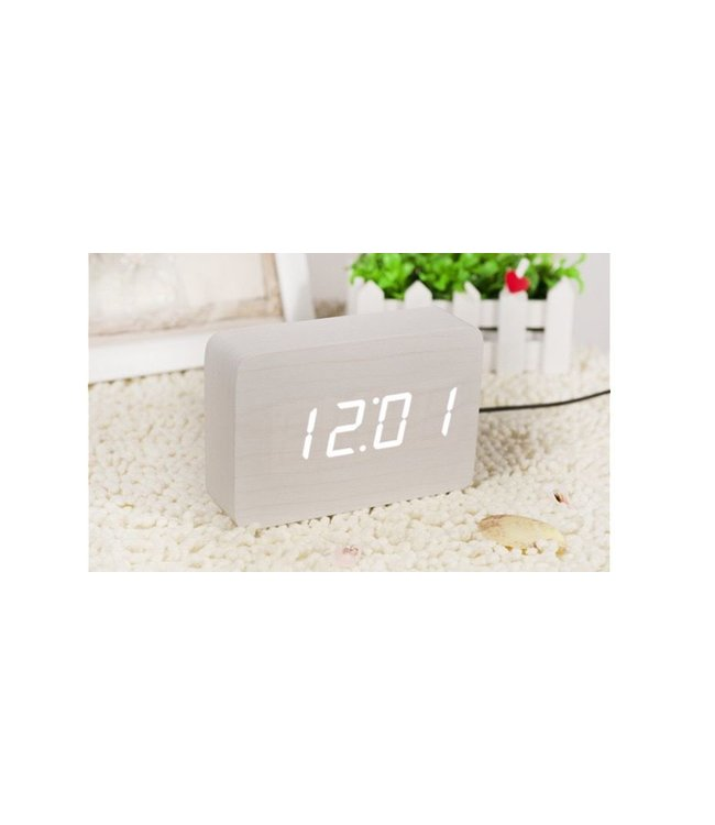 Level 2 Accessories etc Brick White Click Clock/White LED