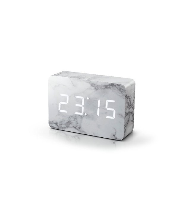 Level 2 Accessories etc Brick Marble Click Clock White LED