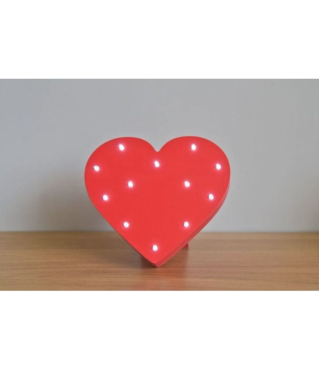 Up in Lights Red Heart