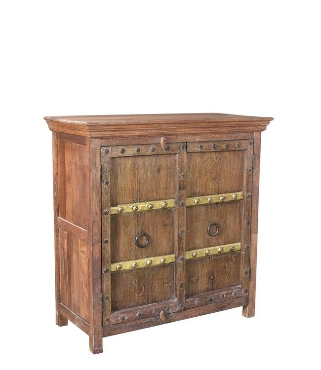 India - Old Furniture 2 Door Cupboard/Sideboard with Old Doors