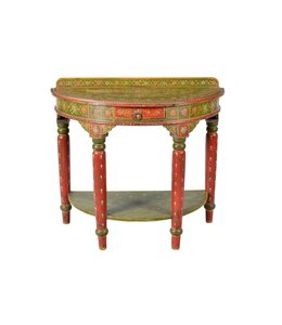 India - Old Furniture Painted Console Table