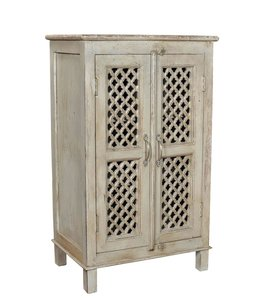 India - Old Furniture Fretwork Two Door Cupboard