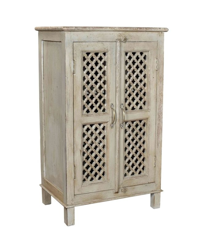 India - Old Furniture Fretwork Two Door Cupboard