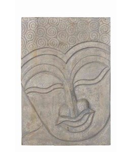 Buddha Plaque - Teak/Mango Wood