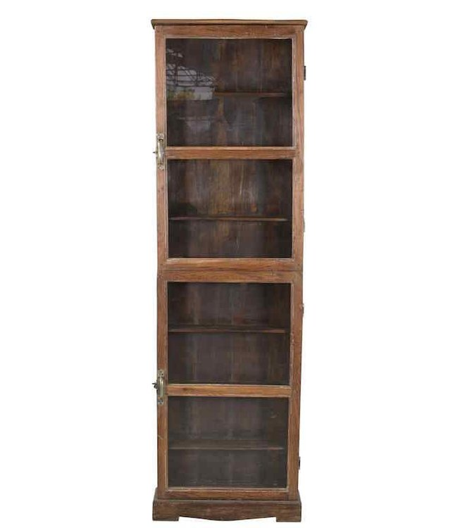 India - Old Furniture Tall Glazed cabinet
