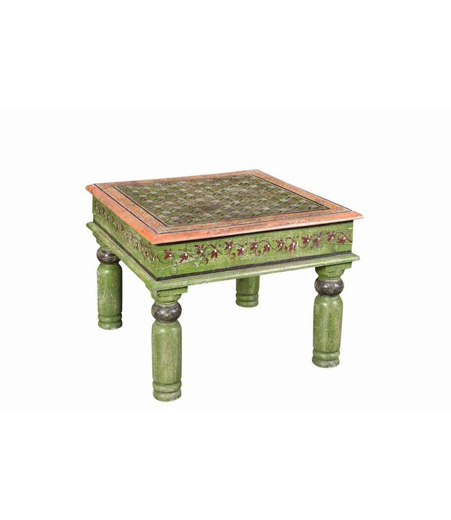 India - Old Furniture Painted Square Table