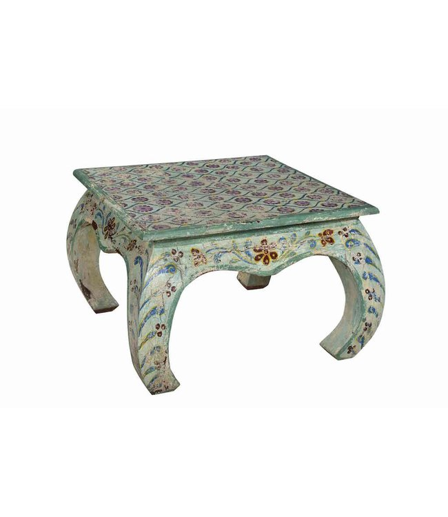 India - Old Furniture Painted Bajot Coffee Table