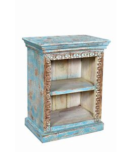 India - Old Furniture Small Painted Bookcase