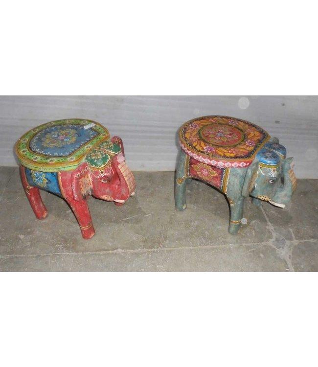India - Handicrafts Elephant Stool