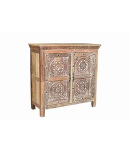 India - Old Furniture Beautifuk Carved Sideboard made from Teak & Mango Wood