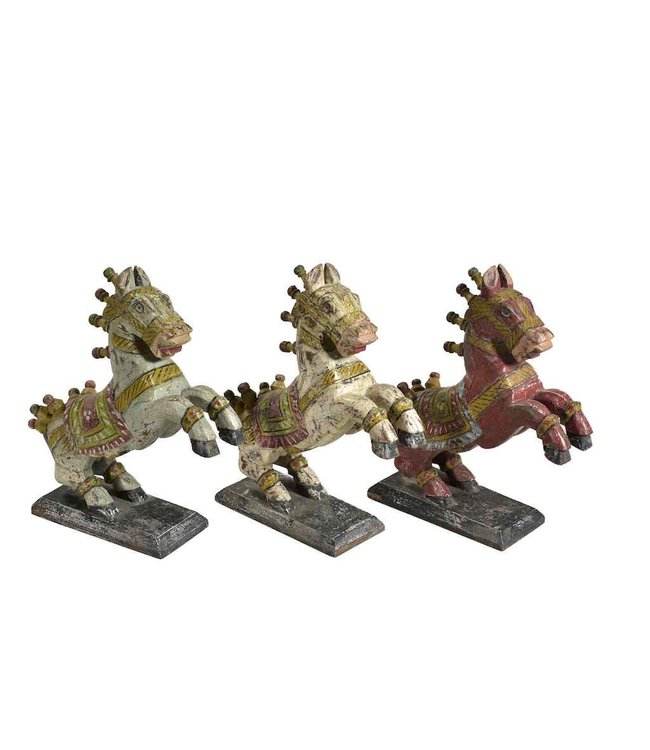 India - Handicrafts Wooden Horse Statue Large
