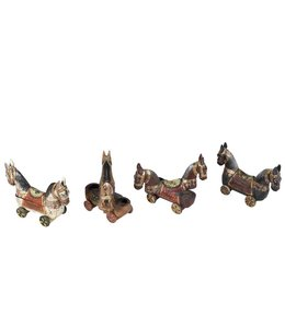 India - Handicrafts Wooden Horse Statue Small