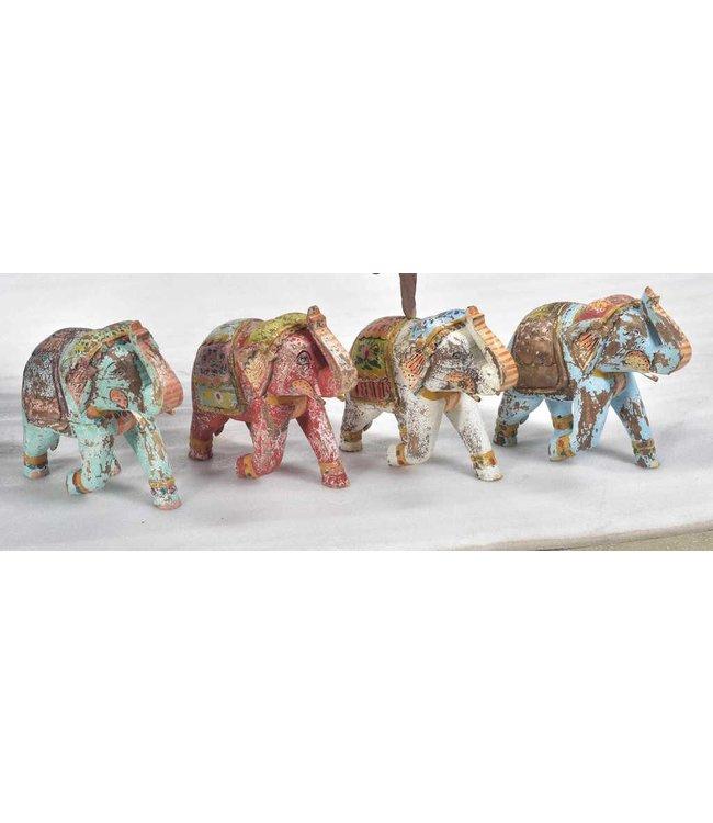 India - Handicrafts Wooden Painted Elephants