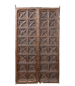 India - Old Furniture Wooden Door without Frame