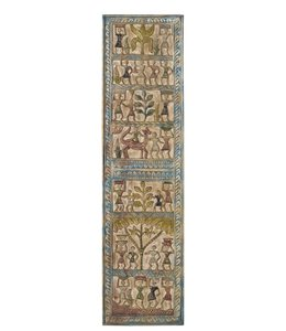 India - Old Furniture Tribal Carved Panel