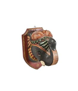 Painted Elephant Head