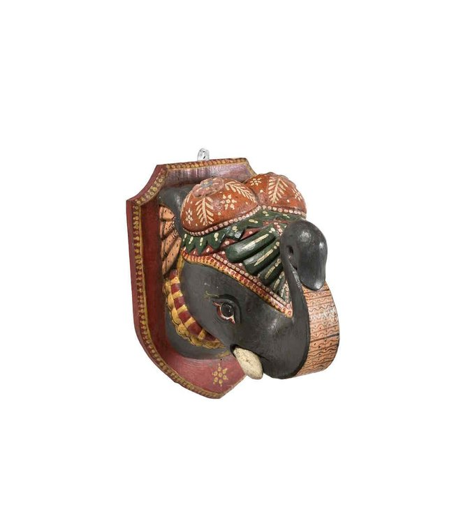 India - Handicrafts Painted Elephant Head
