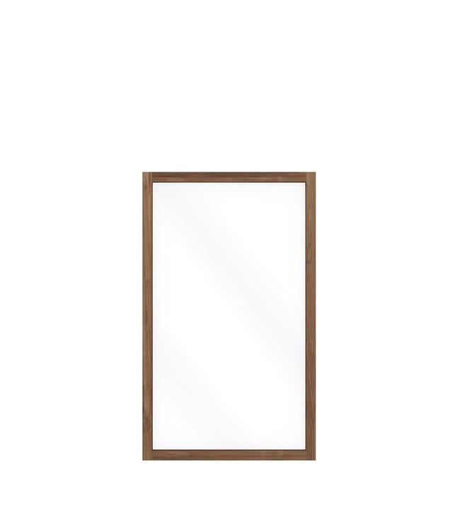 Teak Light Frame mirror