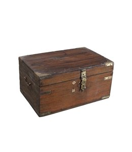 India - Old Furniture Old Indian Chest with Brasswork