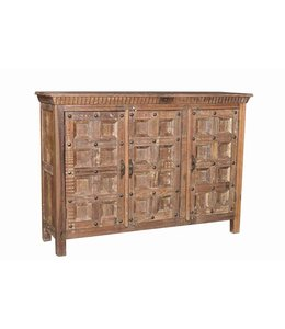 India - Old Furniture Reclaimed Teak Blockwork Sideboard