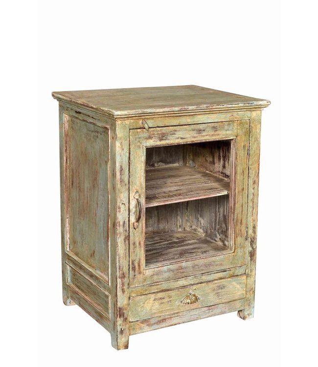 India - Old Furniture Small Distressed Cabinet