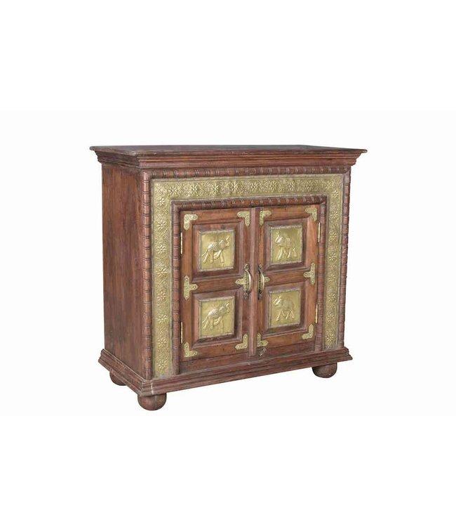 Brass Embellished Cabinet