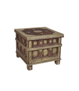 India - Old Furniture Brass Embellished Chest