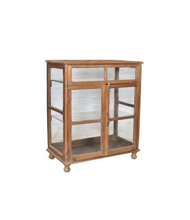 Original Teak Glazed Display Cabinet