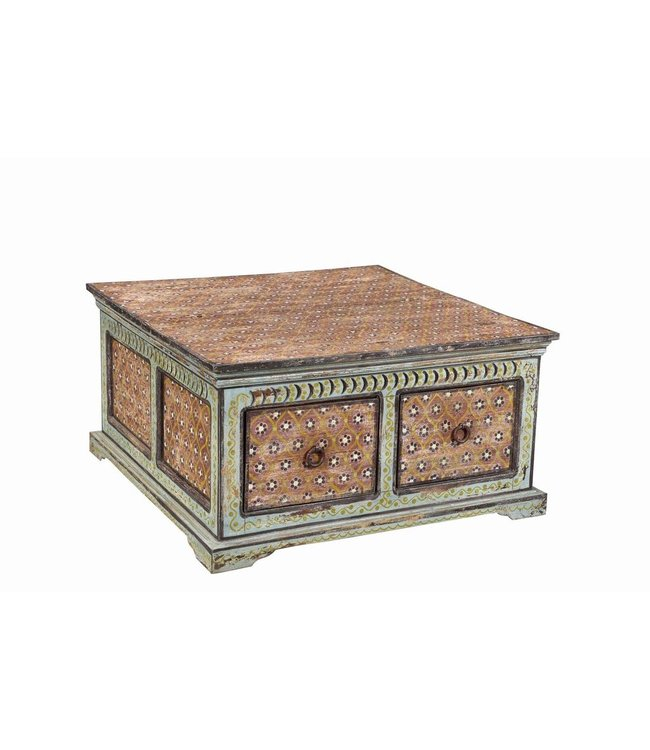 India - Old Furniture Hand Painted Chest