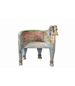 India - Old Furniture Hand Painted 'Maharaja' Chair
