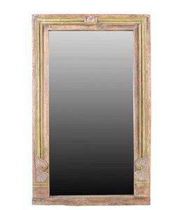 Mirror with Original Teak Window Frame