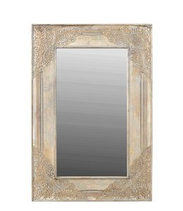 India - Old Furniture Brass Embellished Mirror