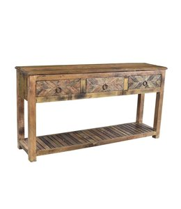 India - Old Furniture Reclaimed Teak Console Table