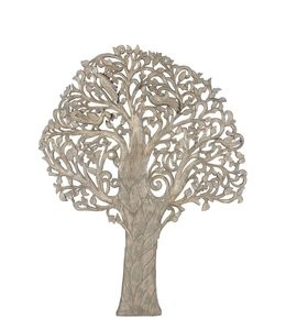 India - Old Furniture Intricately Carved Tree of Life