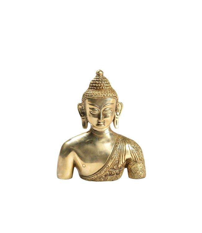 India - Handicrafts Brass Buddha Bust