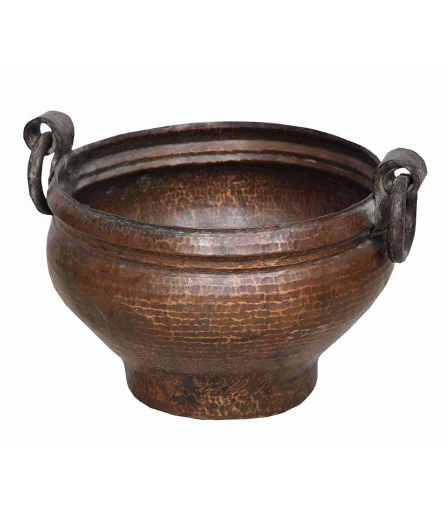 India - Handicrafts Old Brass Cooking Pot