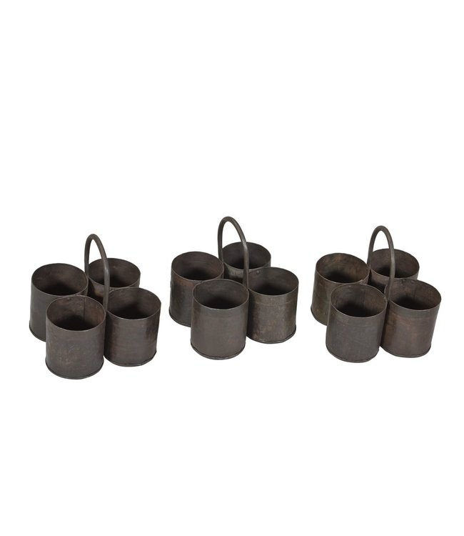 India - Handicrafts Quadruple Iron Pot