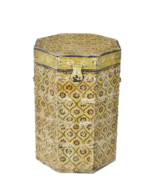India - Old Furniture Hand Painted Tanki Chest