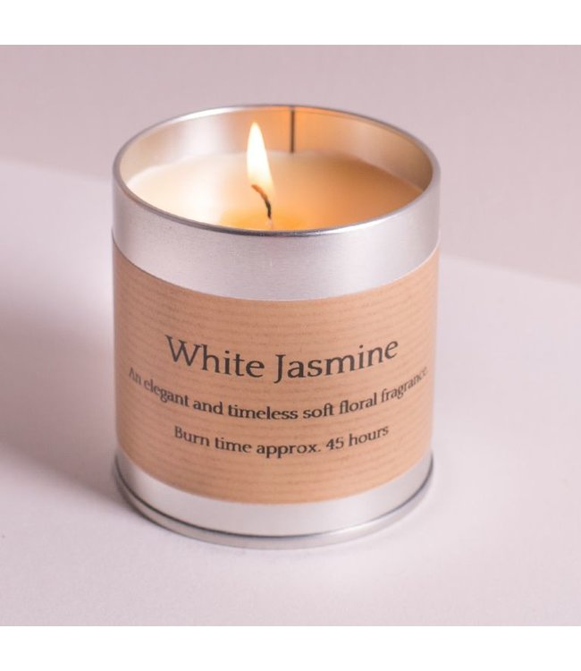 White Jasmine Candle Tin