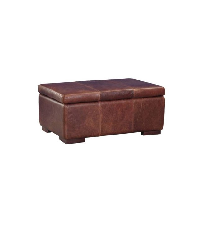 Tuscany Leather Footstool Large With storage