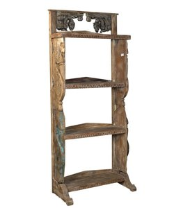 India - Old Furniture Unique hand carved shelf unit