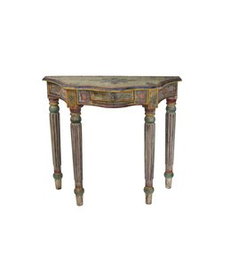 India - Old Furniture Small Painted Console