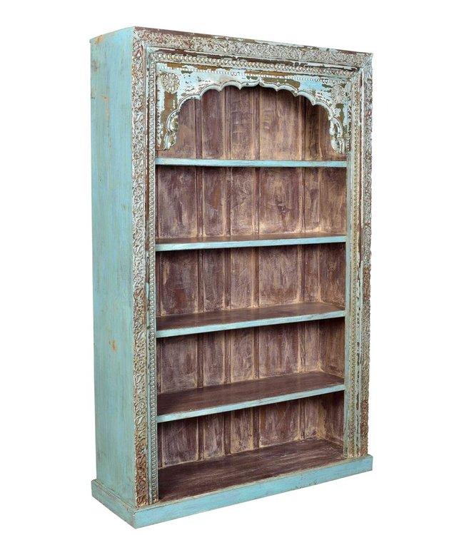 India - Old Furniture Carved Door Frame Bookcase