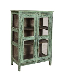 Old Painted and Glazed Teak Cabinet