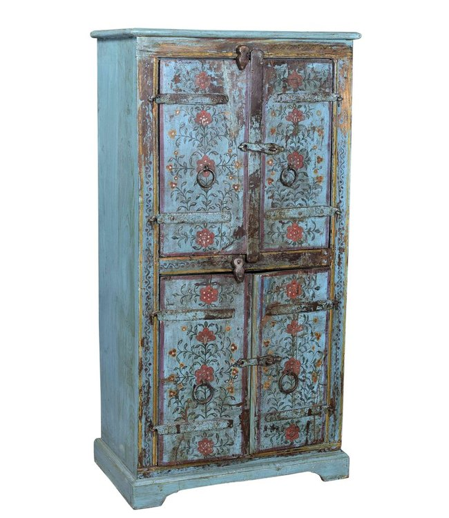 India - Old Furniture Double Door Indian Cabinet with Original Patina
