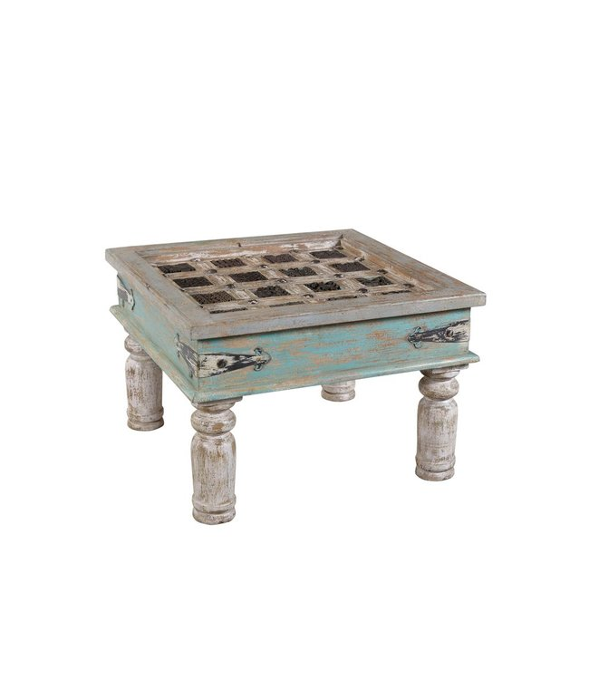 India - Old Furniture Coffee Table with Old Jali Panel