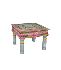India - Old Furniture Hand Painted Coffee Table