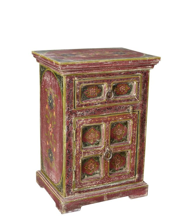 India - Old Furniture Hand Painted Cabinet