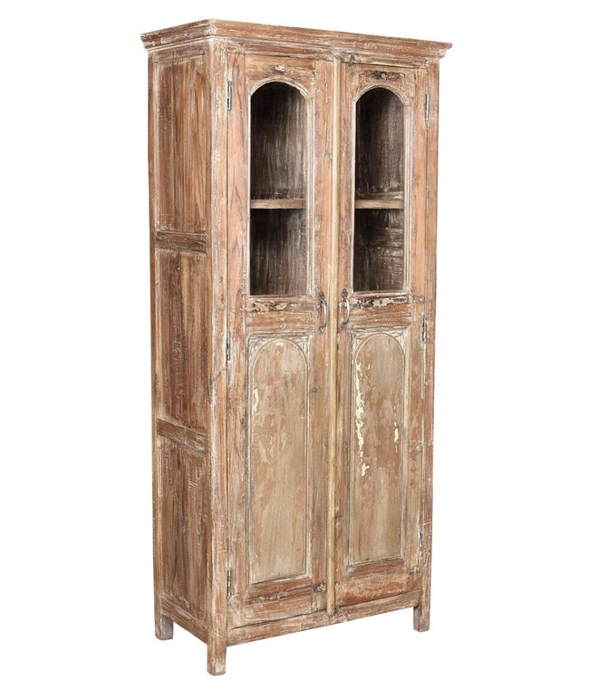 India - Old Furniture Glazed Reclaimed Teak Cabinet
