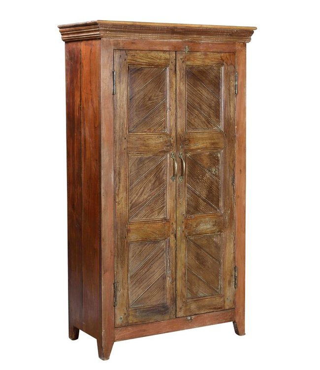 India - Old Furniture Cabinet with Recalimed Teak Doors